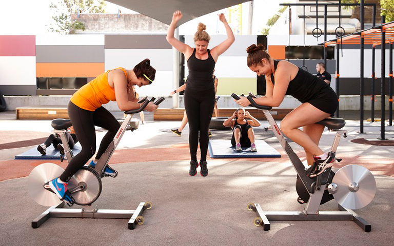 Bounce into health outdoors at your friendly, community gym