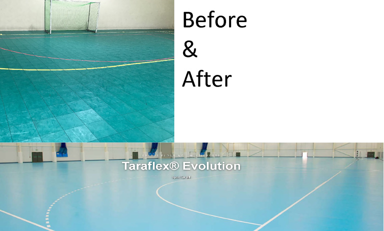 The Centre: Resurfacing of Courts