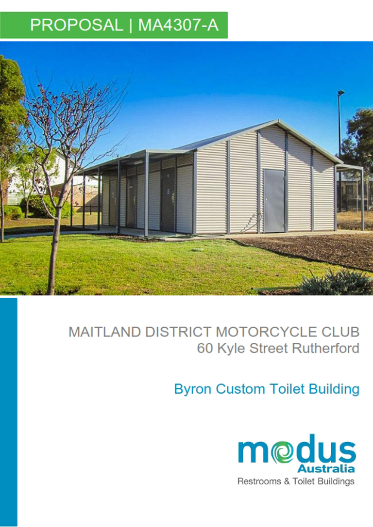 Maitland District Motorcycle Club Amenities Block